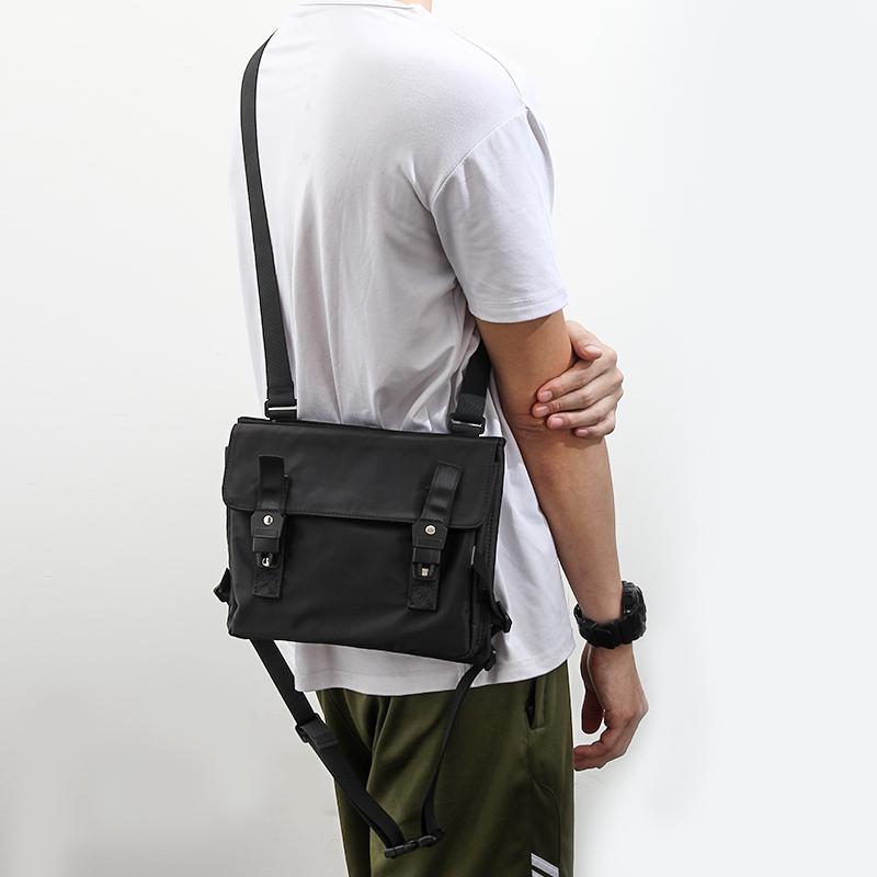 419b23443194 Messenger Bag Men Waterproof Nylon Leisure Black Men S Ipad Shoulder Bag  Small Designer Zipper Crossbody Men Sacoche Homme Cute Purses Crossbody  From ...