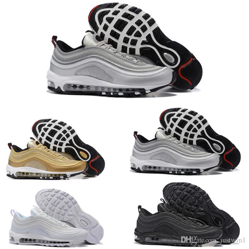 [With Box]High Quality New Men Women Low 97 Shoes Breathable Cheap Massage Running Shoes Sneakers Man 97 Sports Outdoor Shoes outlet perfect WkaXul73xe