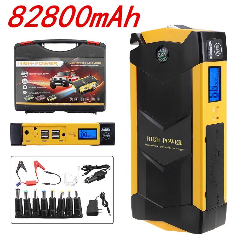 82800mah High Power Car Jump Starter 12v Portable Starting Device Power Bank Car Charger For Battery Buster 4 Usb
