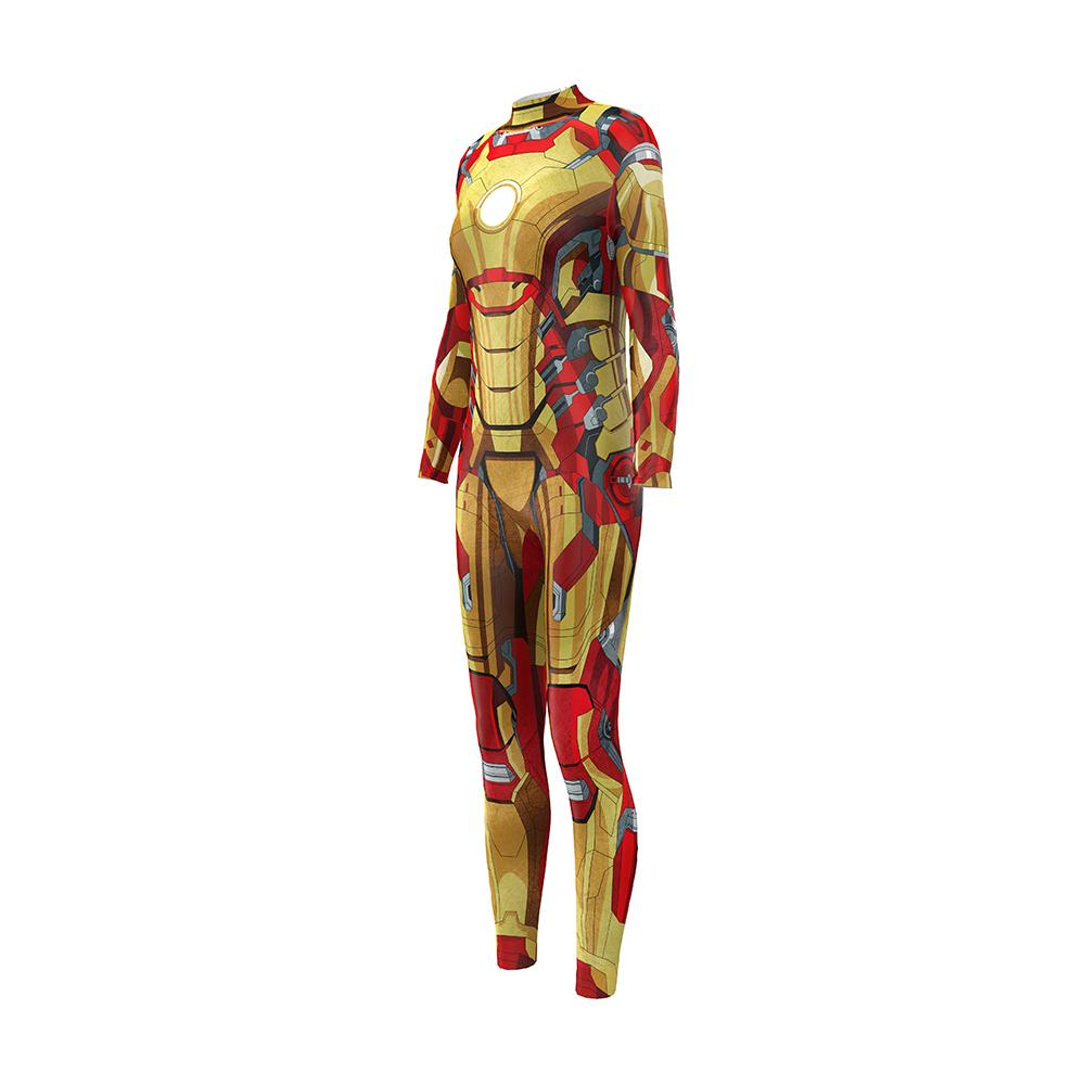 ONSEME комиксов супергерой Железный Человек косплей фитнес комбинезон женщины Битник 3D One Piece спортивный костюм тренировки комбинезон боди женский