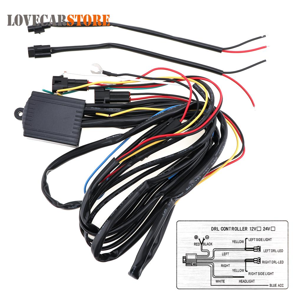 rl controller Multi-function Dimming Delay Steering Blasting Daytime Running Light Controller LED Daylight DRL Control Line Group for Aut...