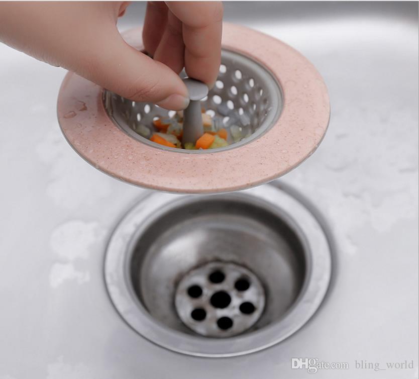 Capelli bagno doccia tappo colino di cucina bagno lavandino colino filtro about 8 cm Blue