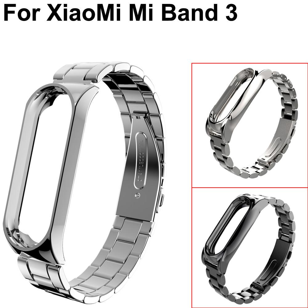 4e38cd955c2 Newest Watchband Strap Luxury Stainless Steel Wrist Strap Metal Watch Bands  Bracelet for Xiaomi Mi Band 3 Watchbands Watchbands Cheap Watchbands Newest  ...