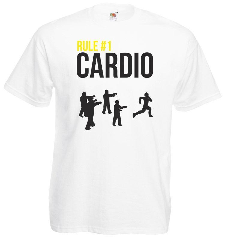 Rule 1 Cardio Zombieland Inspired Men S Printed T Shirt T Shirt
