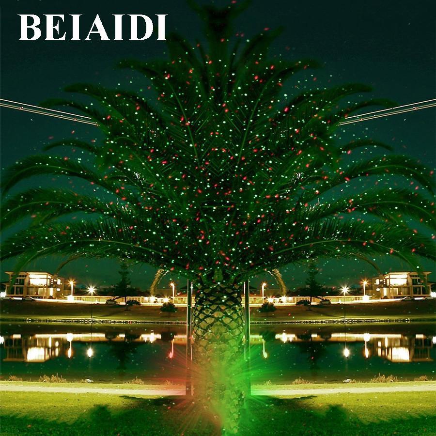 wholesale beiaidi sky star outdoor christmas laser projector green red laser spotlight lamp landscape garden christmas stage light dj disco lights laser
