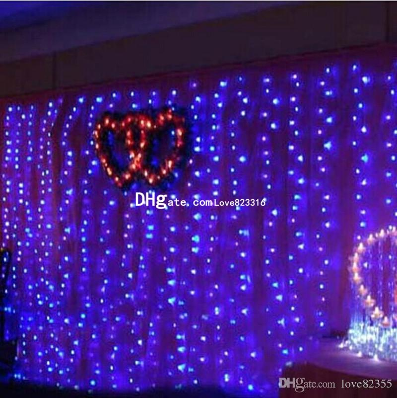 Wholesale 10M x 5M 1600LED Outdoor Home Christmas Decorative xmas String Fairy Curtain Strip Garlands Party Lights For Wedding Decorations
