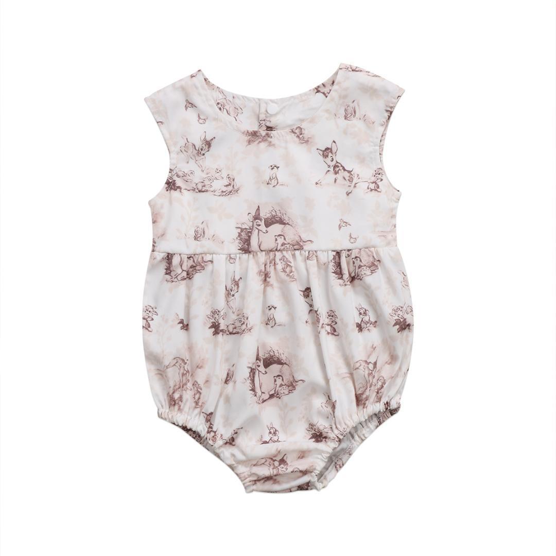 fc0c6b3d1 2019 Pudcoco 0 24M Newborn Infant Baby Girl 2017 Deer Sleeveless ...