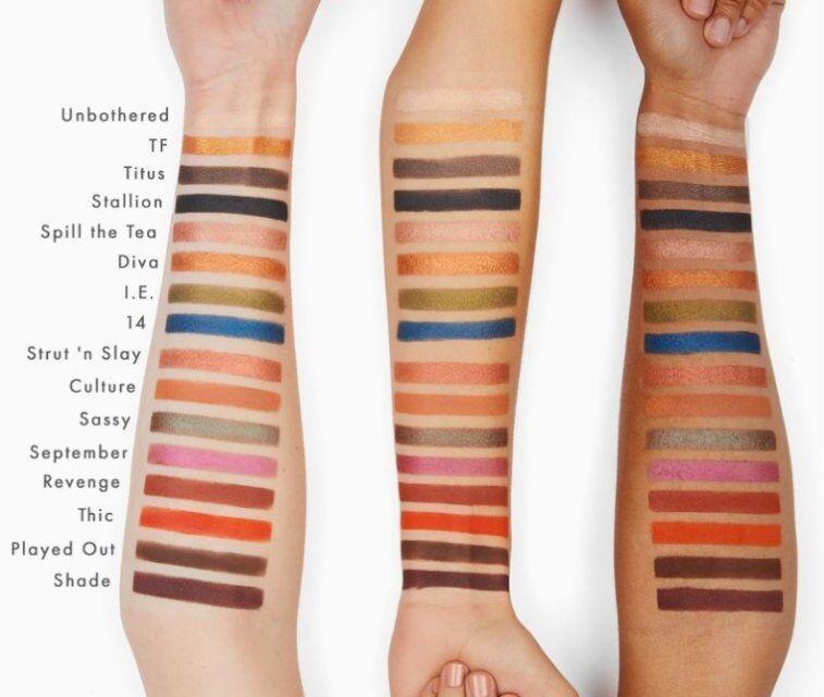 IN STOCK 2018 احدث الادراك شايلا X COLOURPOP SHADOW ملون 16 الألوان ماكياج ظلال العيون لوحة وميض عيون DHL الشحن