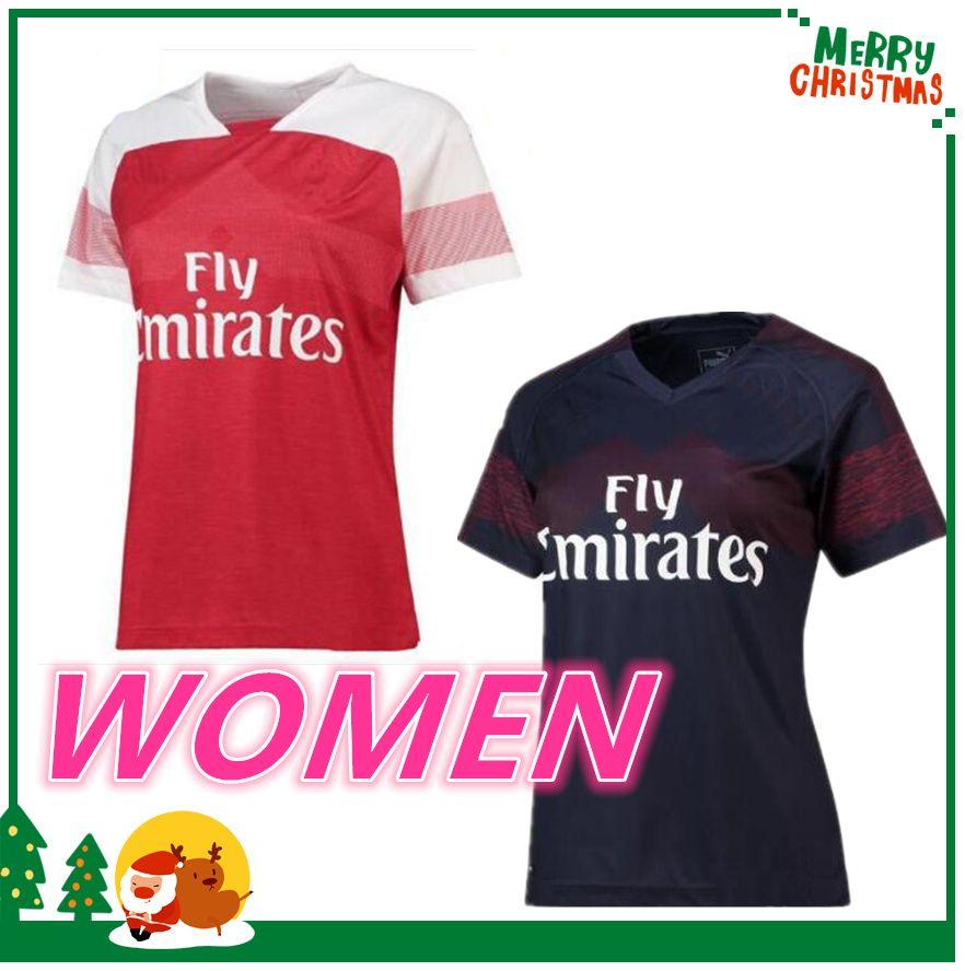 b0963f666 Women Arsenal 2018 Home Soccer Jersey 2019 Arsenal OZIL LACAZETTE ALEXIS  GIROUD XHAKA Away Soccer Shirts AUBAMEYANG Football Uniforms Online with ...