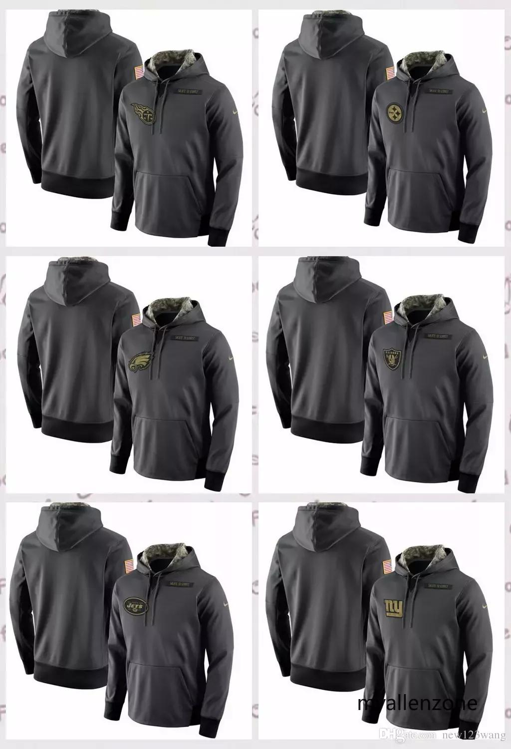 88c8b1bea98 Pittsburgh Steelers New York Giants New York Jets Oakland Raiders  Philadelphia Eagles Salute to Service Player Performance Hoodie Online with  $68.61/Piece ...