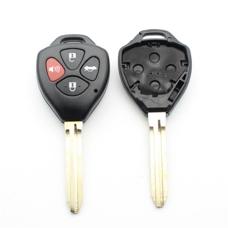 10st / parti för Toyota Camry / Avalon / Corolla / Matrix / Rav4 / Venza 4Button Transponder Remote Key Shell Toy43 Blade med logo S39