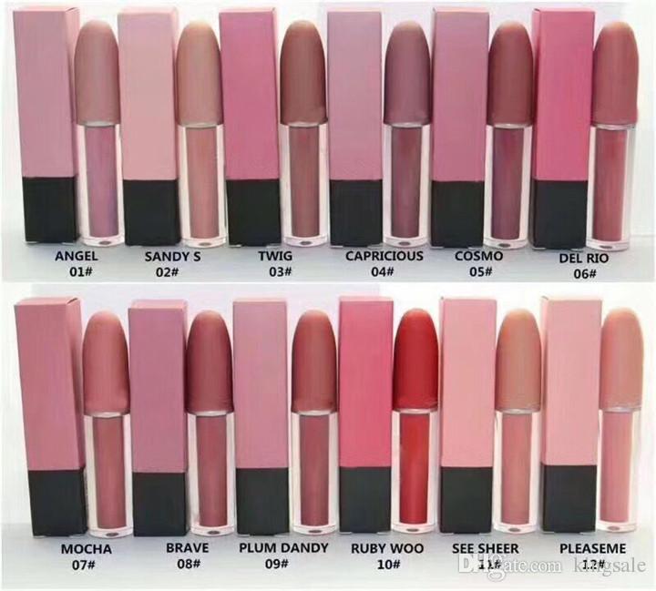 Горячие продажи новый макияж матовая помада губы блеск для губ 12 цветов высокое качество DHL Бесплатная доставка