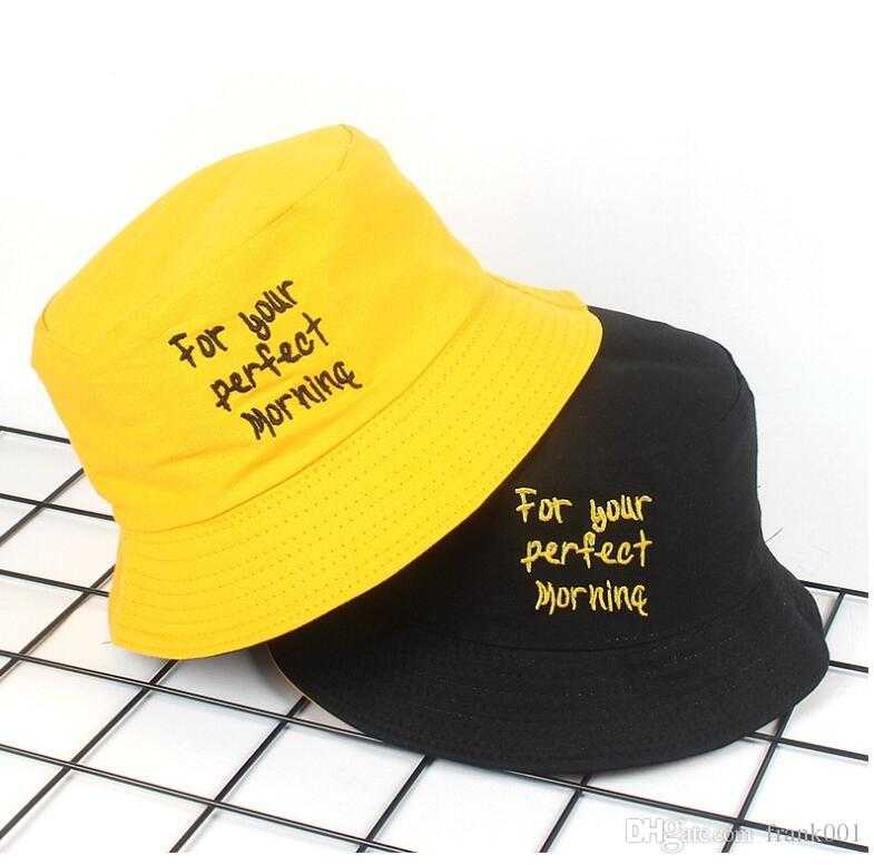 2019 New Two Side Reversible Yellow Bucket Hat For Men Women Chapeau  Pescador Hunting Hiking Hat Bob Caps Panama Hat For Summer From Frank001 07e56deb3e1