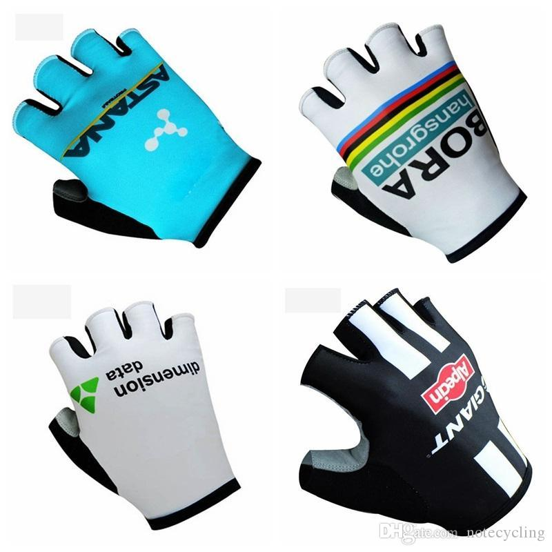 New GIANT Cycling Gloves Alpecin Team Bicycle Bike Half Finger less Cycle Gloves