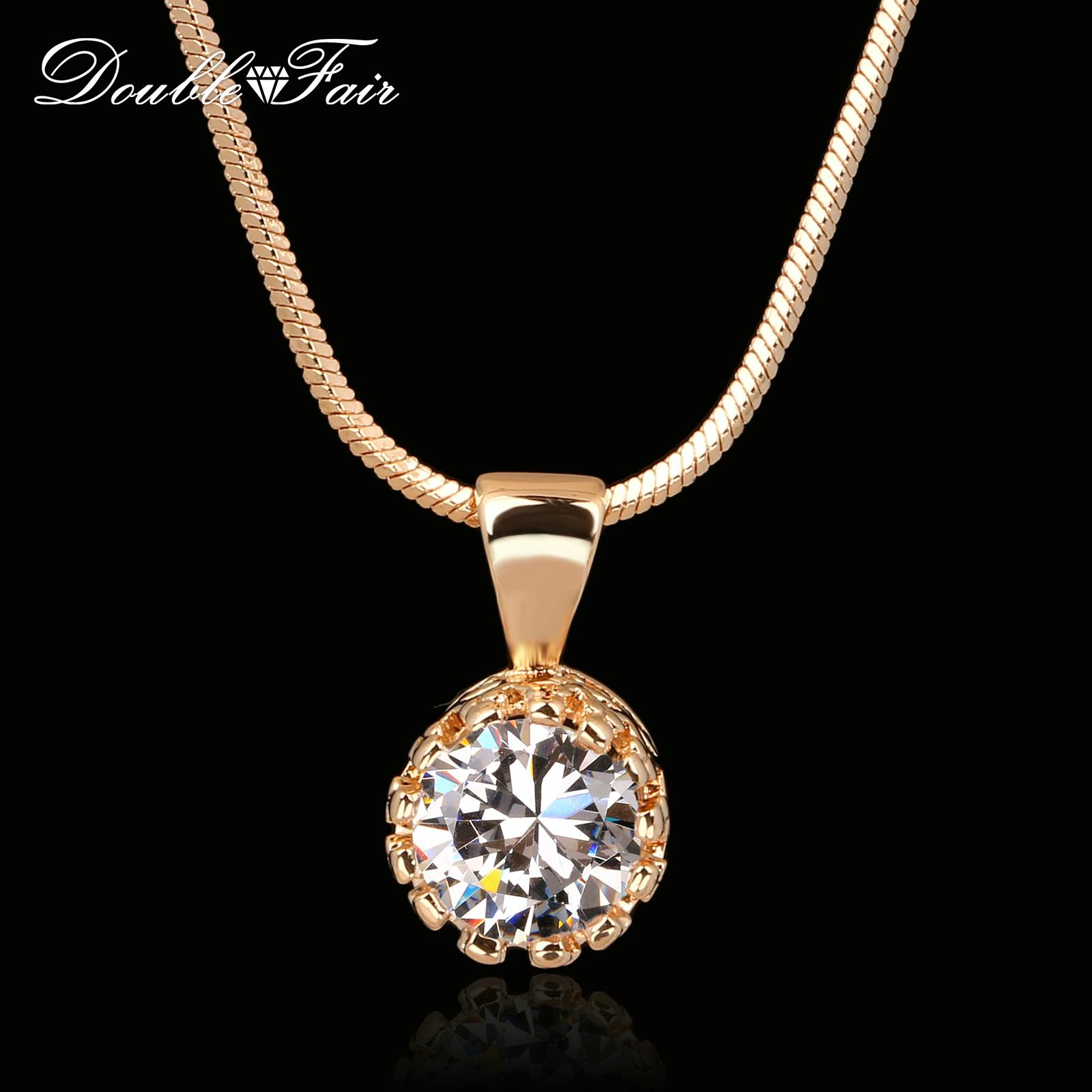 bc3ddecba3 Wholesale Brand Crown Cubic Zirconia Necklaces & Pendants Silver/Rose Gold  Color Snake Chain Fashion Jewelry For Women DFN390 Necklace Jewelry Online  with ...