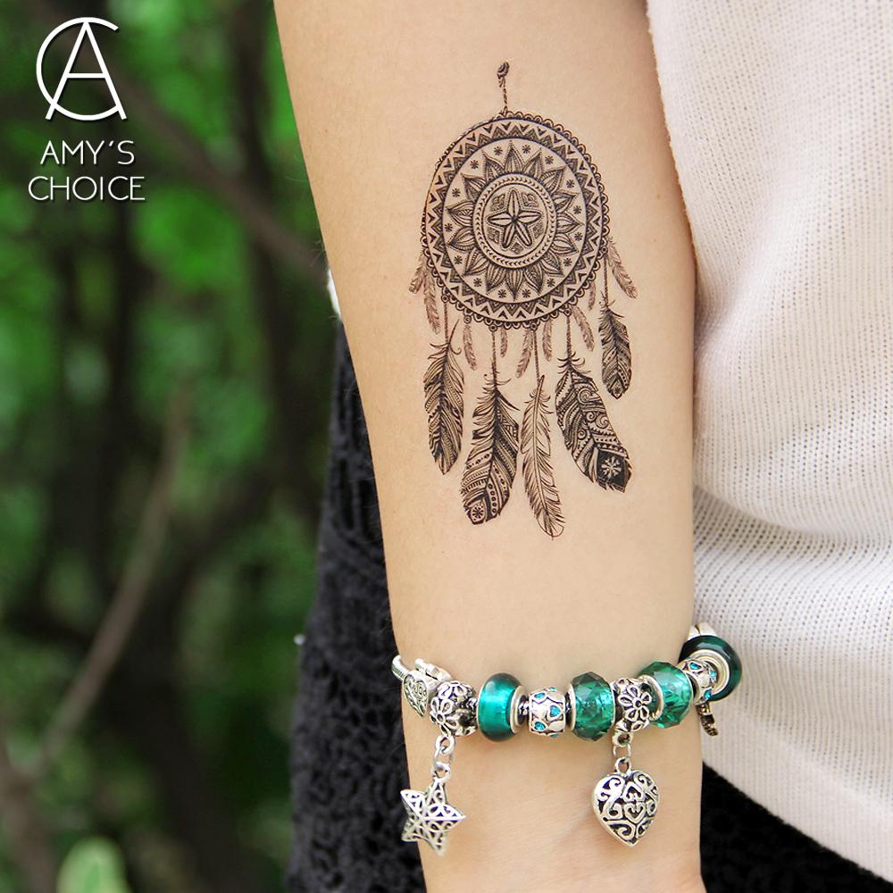 343938d26 Waterproof Temporary Tattoo Sticker Lace Mandala Dreamcatcher Dream Catcher  Tattoo Water Transfer Fake Flash A Tattoos Designs Airbrush Temporary  Tattoos ...