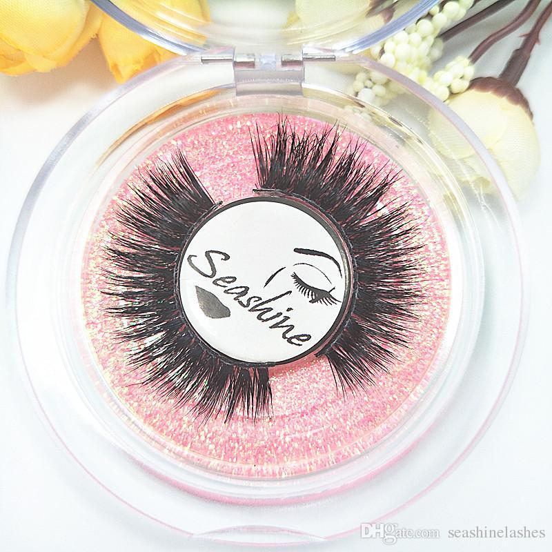 Seashine Eyelashes 3D Mink Full Strip, pestañas de visón de larga duración, volumen natural, extensiones de pestañas pestañas postizas envío gratis