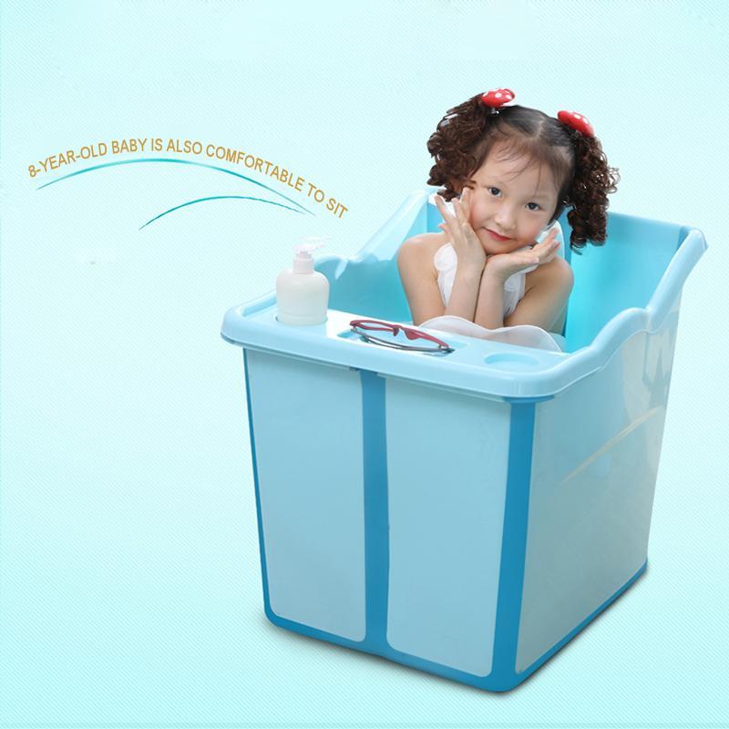 top quality fold thicken large baby bathtub kids bath barrel bucket