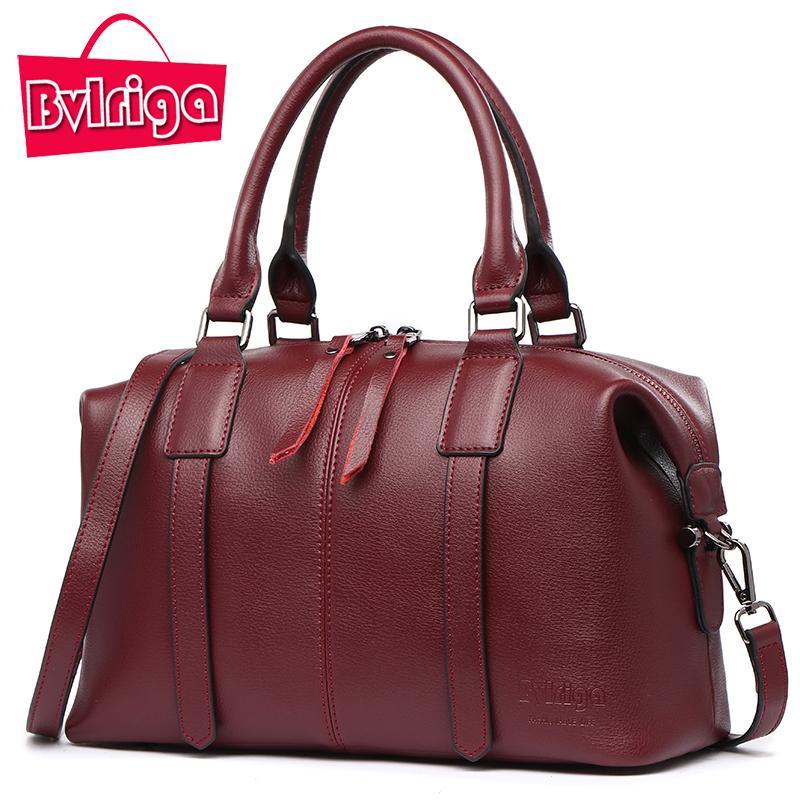 BVLRIGA Luxury Handbag Women Bag Designer Genuine Leather Handbag Women  Famous Brand Crossbody Shoulder Messenger Bag Wine Red Messenger Bags  Crossbody Bags ... 5ff0c44fa4db9