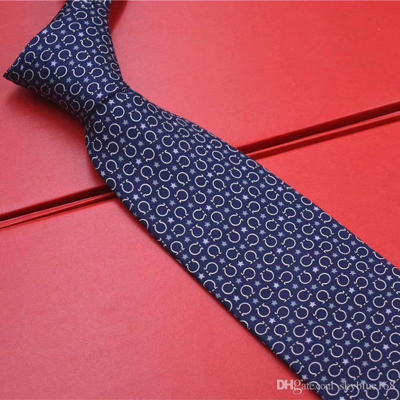 Men Polyester Textile Neckties Business Wedding Ties Great Gift