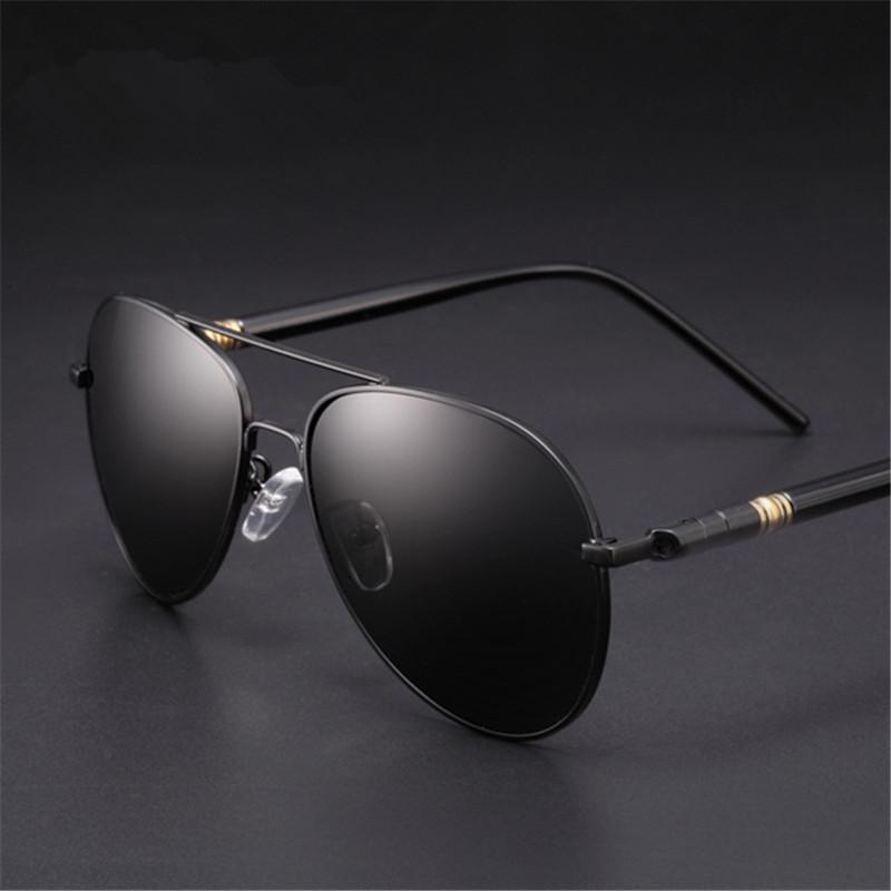 ebfb05de5 Compre 2019 Luxo Polarizada Óculos De Sol Dos Homens Marca Designer Retro  Vintage Piloto Óculos De Sol Para Homens Masculino Óculos De Sol 2018  Zonnebril ...