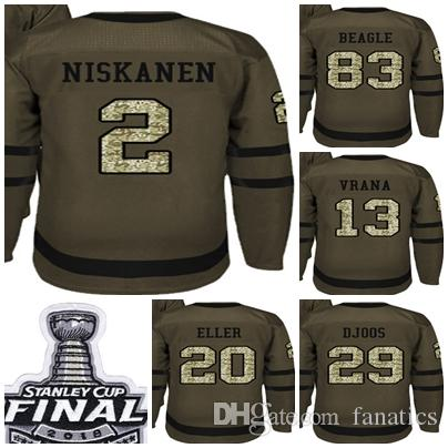 2018 Stanley Cup Champions Men Washington Capitals Green Salute to ... 8570ce74c