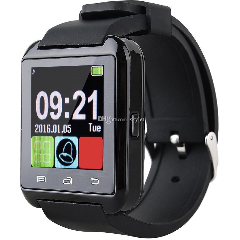 Bluetooth U8 SmartWatch Relojes de pulsera Pantalla táctil para iPhone 7 Samsung S8 Android Teléfono Monitor para dormir Reloj inteligente con paquete al por menor
