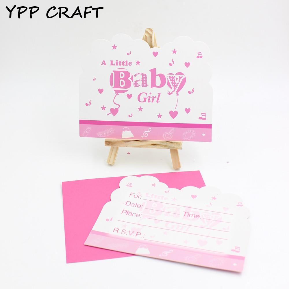 YPP CRAFT Baby Shower Party Invitation Cards Birthday Decorations Supplies Kids Bday Beautiful From Shuishu