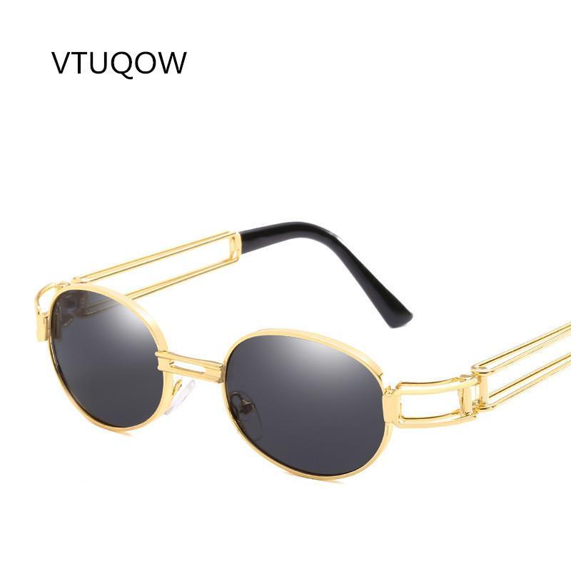 af52895d385 2018 Fashion Steampunk Sunglasses Men Women Brand Design Fashion ...