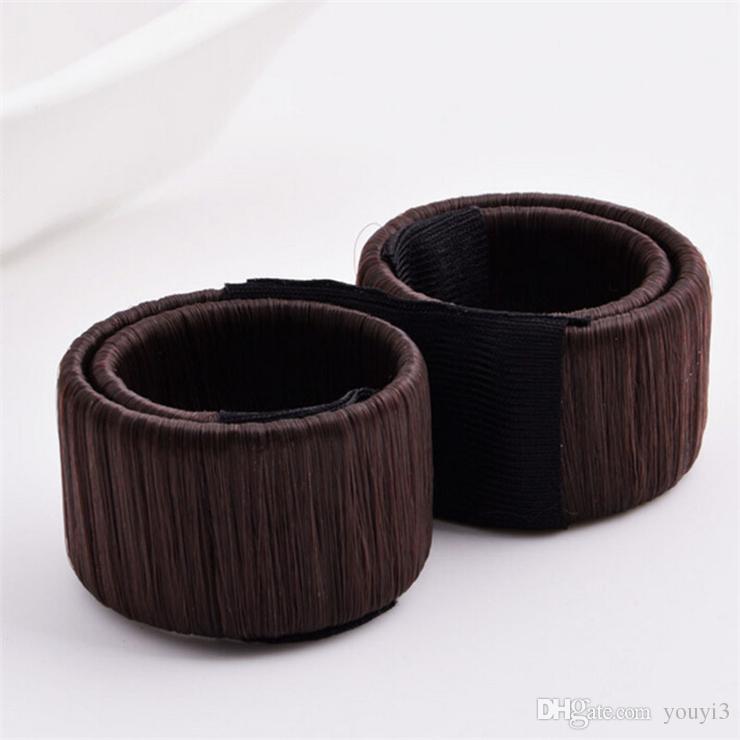 Headband Dispenser Balls head Wig Hair Headband Hairdressing Volume Hair Ring French Curly Treasure Multi Color