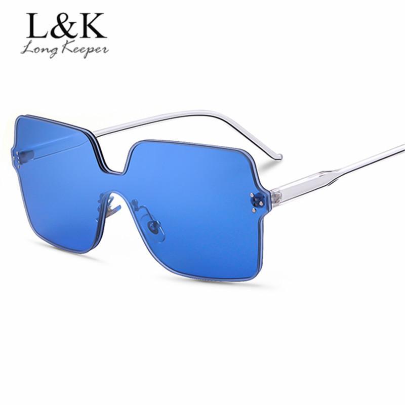 288c6013a55 Oversized 2018 New Fashion Women Flat Sunglasses Luxury Brand ...