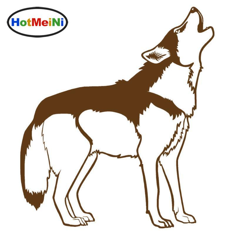2019 Wholesale Howling Husky Dog Wolf Car Stickers Personality Vinyl