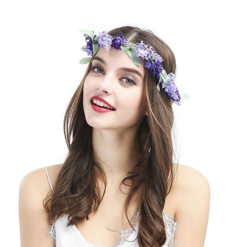 Boho Headband Handmade Product Wedding Festival Floral Flower Bride  Hairband Flower Headband Crown Flower Garland Hair Wear Hair Accessories  Wedding Hair ... 3e9bfe5aec4