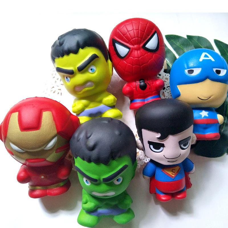 2018 INS 11CM PU Iron Man Hulk Captain America The Avengers Squishy Super Heroes Depression Toys For Kids