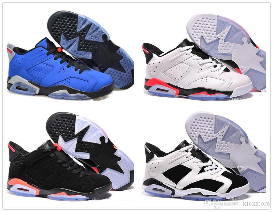 pretty nice 7f030 f45a5 2018 New J6 6 Black Blue White Infrared Low Chrome High Quality Basketball  Shoes Women Men Sport Blue Carmine Red Oreo Alternate Shoes 4e Basketball  Shoes ...