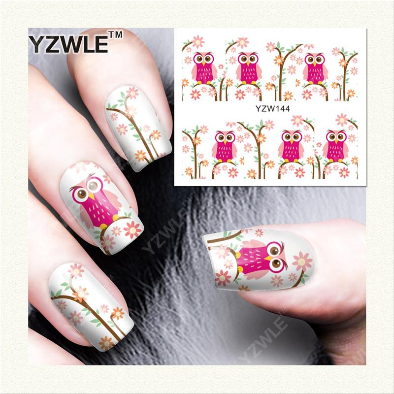 Yzwle Water Transfer Nail Art Sticker And Decal Summer Designs Cartoon Cat Set Cute Slider Tattoos Manicure Fast Color Beauty & Health Nails Art & Tools