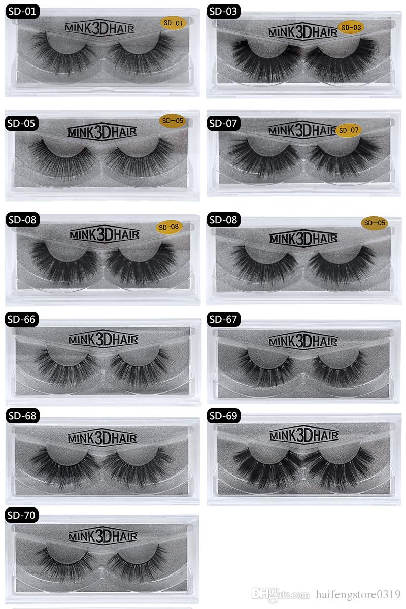 70d067a17b8 3d Mink Lashes 100% Thick Real Mink False Eyelashes Natural For Beauty  Makeup Extension Fake Eyelashes False Lashes Individual Eyelashes Semi  Permanent ...