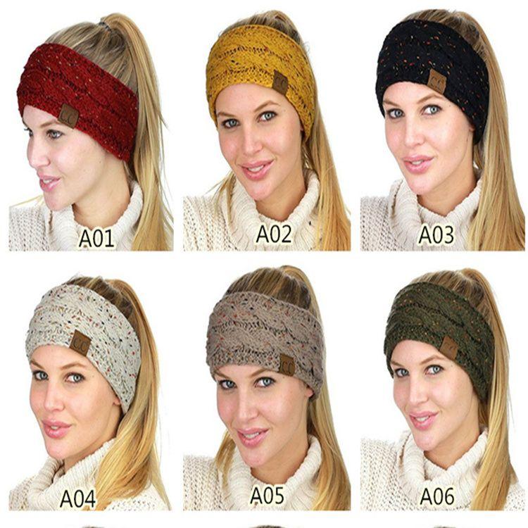Cc Hairband Fashion Wool Crochet Headband Knit Hair Band Flower ...