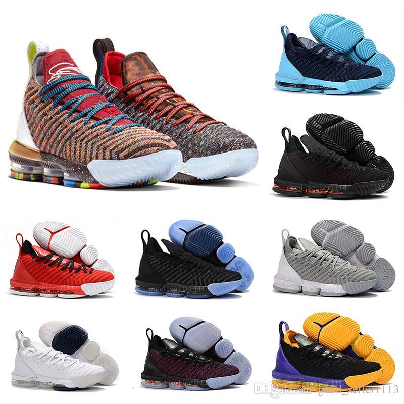 sports shoes 74f78 37c65 Acquista Lebron James 16 Basketball Shoes 2018 Rainbow CNY 16 Nero 1 THRU 5  Uomini Scarpe Da Basket 16s Moda Nero Oro Rosso Mens Scarpe Da Ginnastica  ...