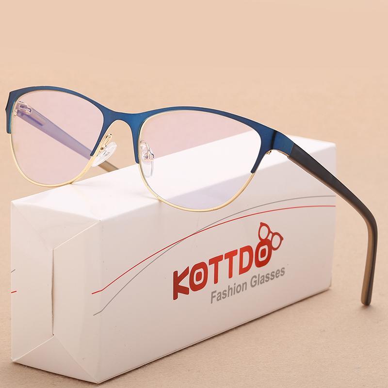 17161eac665 2019 KOTTDO New Fashion Men Cat Eye Glasses Frames For Women Myopia Optical  Vintage Business Eyewear Transparent Eyeglasses Oculos From Buete