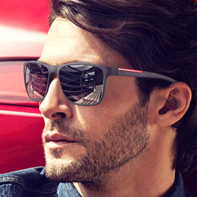 fc16c844f99b Fashion Square Sunglasses Men Brand Design Luxury Mirror Sun Glasses ...