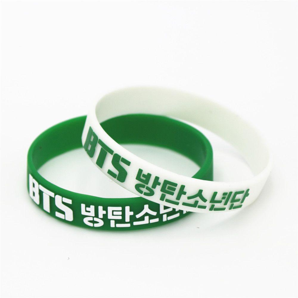 1PC KPOP Fans BTS Bangtan Boys Boy 3D Sport Silicone Friendship Boys and  Girls Wristband Bracelets Bangles SH119