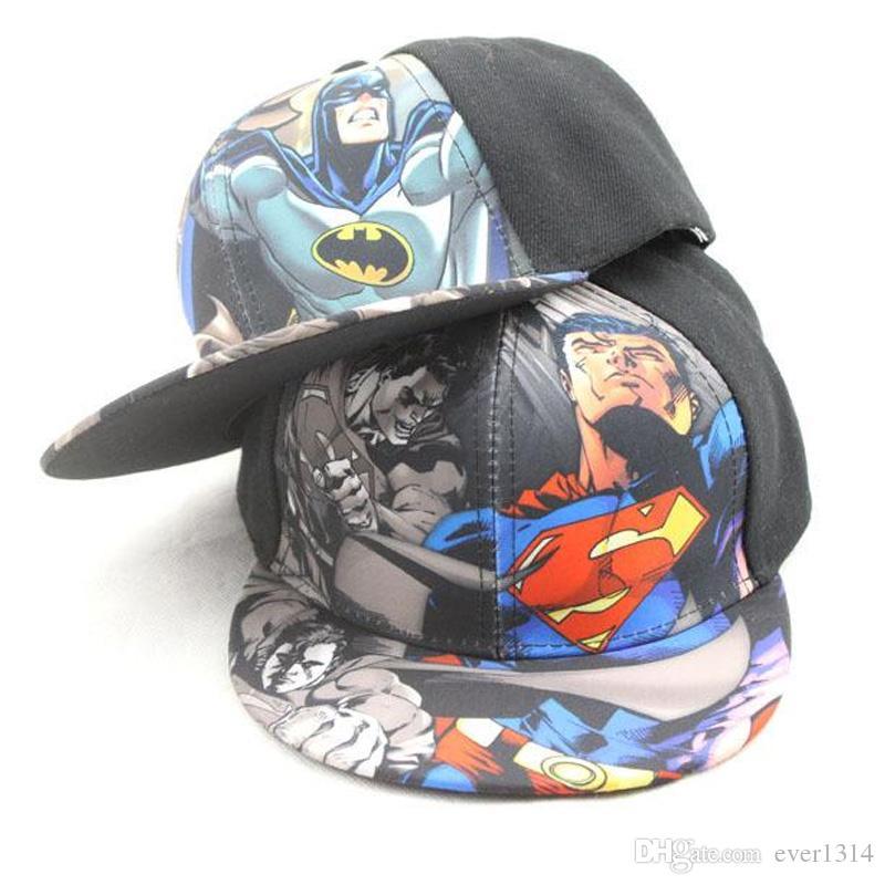 244d65599fc Batman Superman Caps Adjustable Sun Hats Men Women Baseball Cap Cartoon Superhero  Batman Snapbacks Outdoor Hat Baseball Caps For Men Mesh Hats From Ever1314  ...