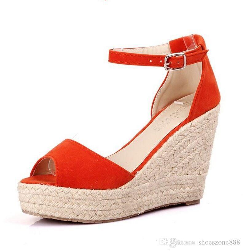 Peep Toe Donna Sandalo Linen Bohemia Wedges Sandalo Summer Summer Sandalo Ankle   8fd138