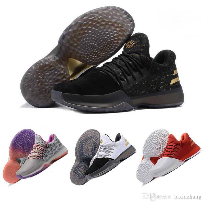 64e3452f2749 Großhandel 2017 Originale Harden Vol. 1 Männer Basketballschuhe James  Harden Vol. 1 Jh13 Rocket Rot Weiß Gs Schuhe Athletic Sports Turnschuhe Us7  12 Von ...