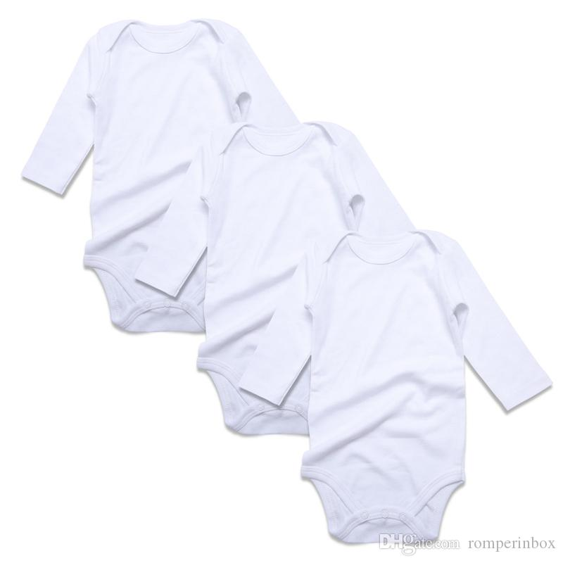 afc99afd2 3PCS Newborn Baby Jumpsuit White Black Gray Cotton Long Sleeve Unisex Baby  Bodysuit Solid Toddler Clothing Infant Outfit Kid Clothes