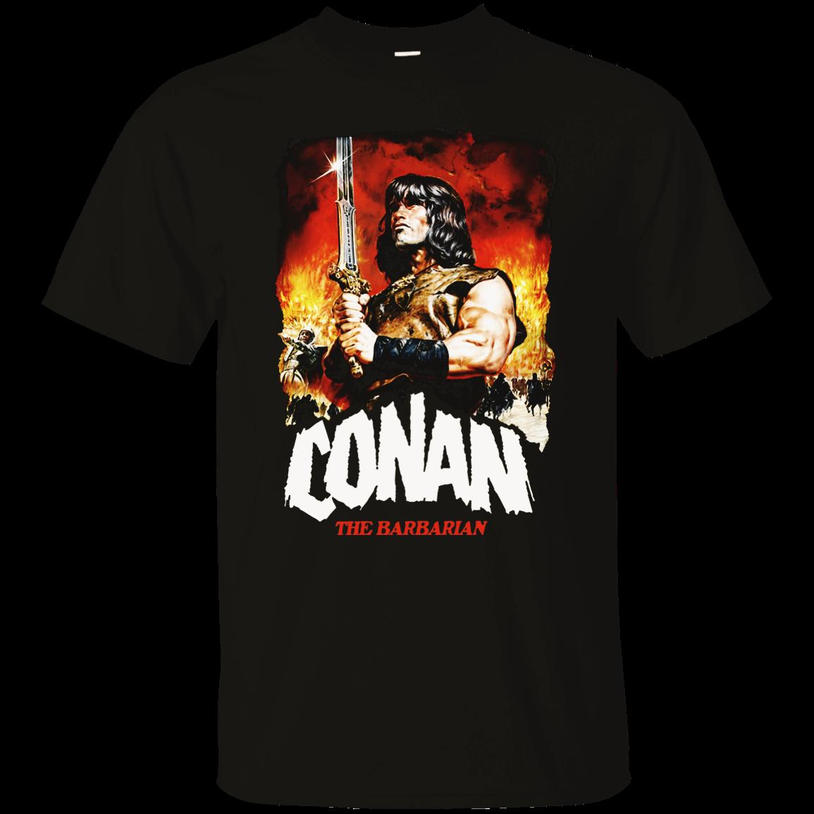 Conan, The Barbarian, Destroyer, Retro, 1980 s, Movie, Arnold,  Schwarzenegger, T