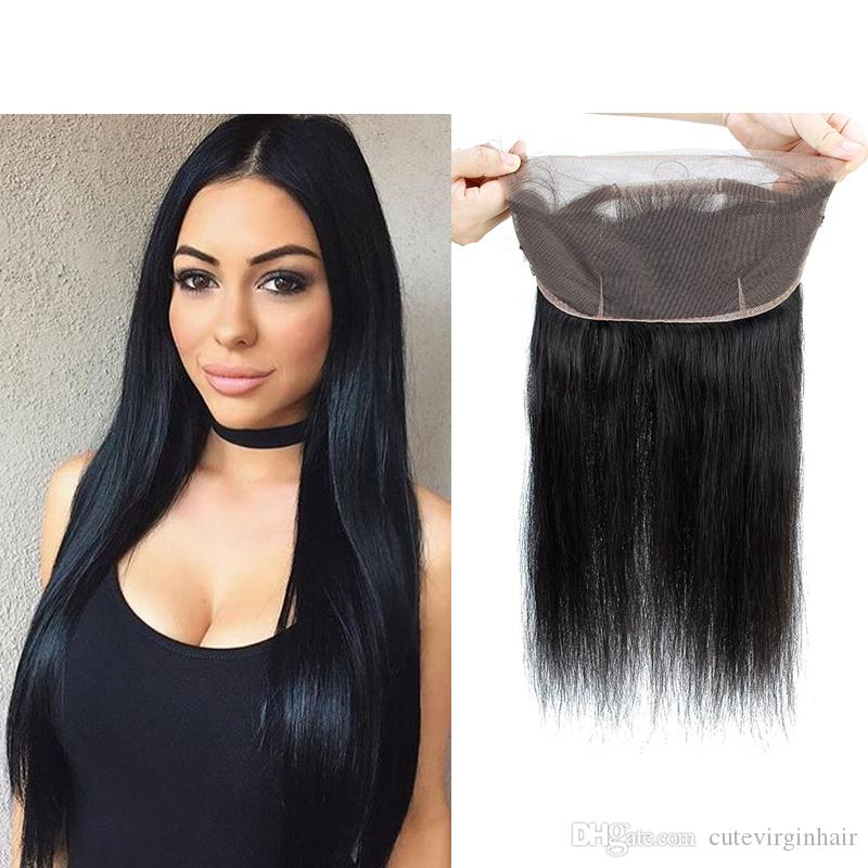 Have An Inquiring Mind 360 Swiss Lace Frontal With Bundle Closure Indian Straight Virgin Human Hair With Baby Hair Pre Plucked Natural Hairline Color Attractive Appearance Salon Hair Supply Chain Salon Bundle Pack
