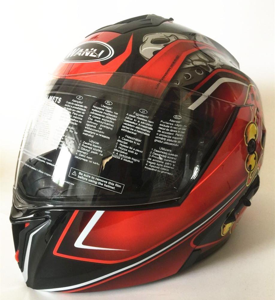 Motorcycle helmets Safe Double Visor ECE DOT Flip up helmet casque moto  Racing 4 season motor cycle MOTO helmet S M L XL XXL