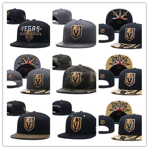 Top Sale Caps Vegas Golden Knights Hockey Snapback Hats Black Color Cap Gold Black Gray  Visor Team Hats Mix Match Order All Caps Flexfit Hats For Men From ... 8144457a53d